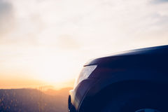 Car against of evening sky Royalty Free Stock Image