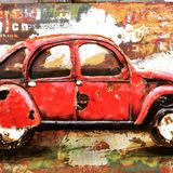 CAR against the wall art royalty free stock photos