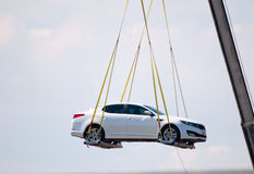 Car in the air Stock Photography