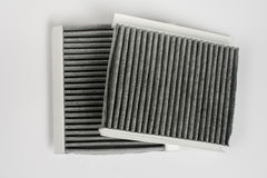 Car air cabin filter isolated over white background Royalty Free Stock Photos