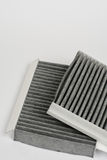 Car air cabin filter isolated over white background Royalty Free Stock Images