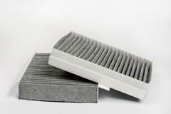 Car air cabin filter isolated over white background Stock Photography
