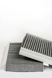Car air cabin filter isolated over white background Stock Photos