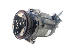 Car Air Compressor isolated on white background Clipping paths. A used Car Air Compressor isolated on white background with Clipping paths Stock Images