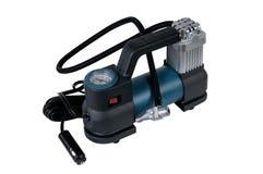 Car air compressor with manometer Stock Photo