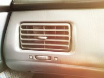 Car Air Conditioner. Artificial light was added for warn tone Stock Photography