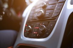 Car Air Conditioner. Modern systems Royalty Free Stock Images