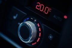 Car air conditioner. Close up shot of a car's air conditioner adjustment knob Stock Images