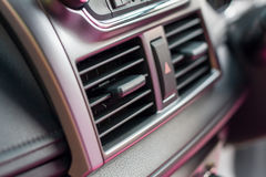 Car Air conditioner. Air conditioner in compact car Stock Photo