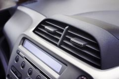 Car air conditioner in the front interior passenger for adjust a Stock Photos