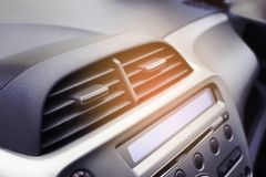 Car air conditioner in the front interior passenger for adjust a Royalty Free Stock Photos