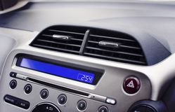 Car air conditioner in the front interior passenger for adjust a Royalty Free Stock Photography