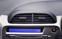 Car air conditioner in the front interior passenger for adjust a. Irflow, selective focus, Automotive part concept Royalty Free Stock Image