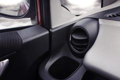 Car air conditioner in the front interior passenger for adjust a Royalty Free Stock Photo