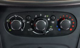 Car Air Conditioner. Manual switch board in the car Royalty Free Stock Photo
