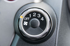 Car air conditioner switch Royalty Free Stock Images