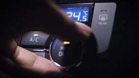 Car Air Conditioning. stock footage