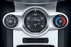 Car air conditioning controls. Photo of the air conditioning controls on a cars dashboard Stock Photos