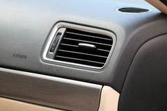 Car air conditioning grills. Close-up (Lens EF100mm f/2.8L Macro IS USM Royalty Free Stock Photo