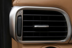 Car air conditioning hole. Royalty Free Stock Photo