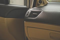 Car air conditioning system,Button on dashboard in car. Panel Royalty Free Stock Photography