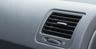 Car air conditioning. System grid panel on console Stock Photos
