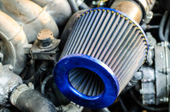 Car air filter. Components engine tuning car air filter Stock Photo