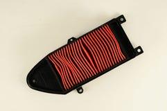 An air filter auto spare part. A car air filter auto spare part Stock Photo