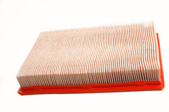 Car air filter on white Royalty Free Stock Images