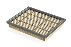 Car air filter. On white background Royalty Free Stock Photos
