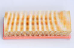 Car air intake filter. On white background Royalty Free Stock Images