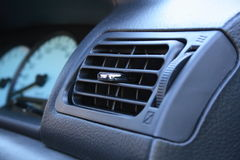 Car air vent. Close up view of car vent royalty free stock images