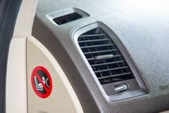 Luxury car air ventilations wind outlet stock photography