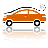 Car with air vortex icon Stock Images