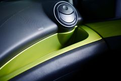 Car Airbag Enclosure. Modern Cars Safety Elements stock images