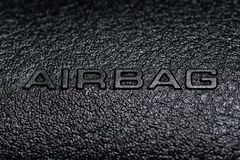 Car airbag sign 1 Royalty Free Stock Photography