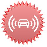 Car alarm. Web button - a computer generated image Royalty Free Stock Photos
