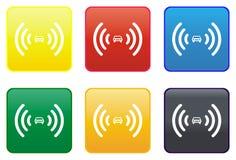 Car alarm web button Royalty Free Stock Photos
