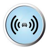 Car alarm web button Stock Photo