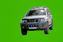 Car all terrain. Carall terrain Nissan Patrol,  on a green background Royalty Free Stock Images