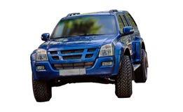 Car all terrain. Isuzu, terrain vehicle isolated on a white background Stock Image