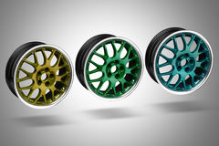 Car alloy rims Royalty Free Stock Image