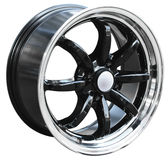 Car alloy wheel. Isolated over white background Royalty Free Stock Image