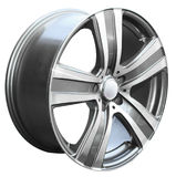 Car alloy wheel. Isolated over white background Royalty Free Stock Photos