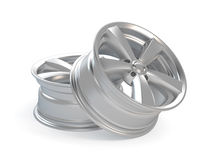 Car Alloy Wheel. 3d render car alloy wheel, isolated over white background royalty free illustration