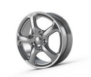 Car alloy wheel. Isolated on white royalty free illustration