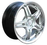 Car alloy wheel. Isolated over white background Stock Photography