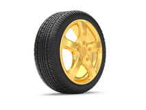 Car alloy wheel gold Stock Photography