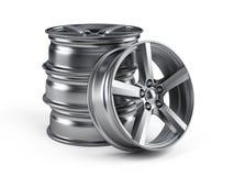 Car alloy wheels. On white background royalty free illustration