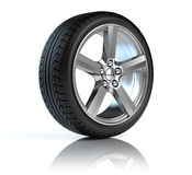 Car alloy wheels. Car wheel on white background Royalty Free Stock Images
